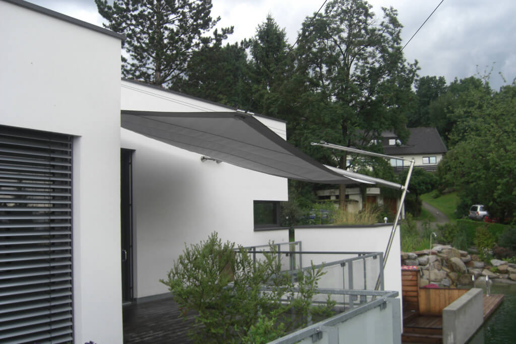 sonnensegel segeltuch simple x spannfeder befestigung. Black Bedroom Furniture Sets. Home Design Ideas