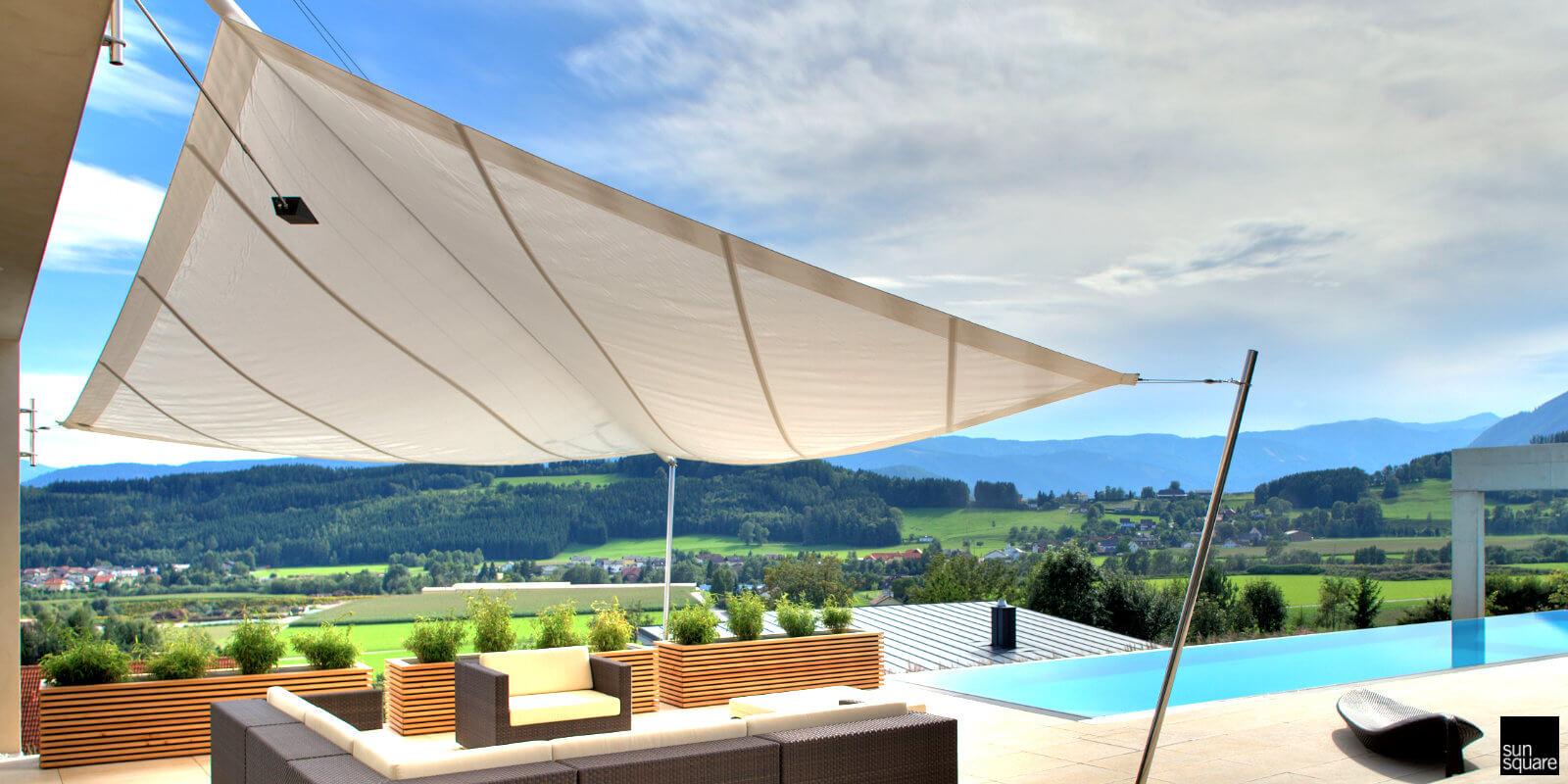 Aufrollbare Sonnensegel aus Rosenheim von Voit Sonnenschutz