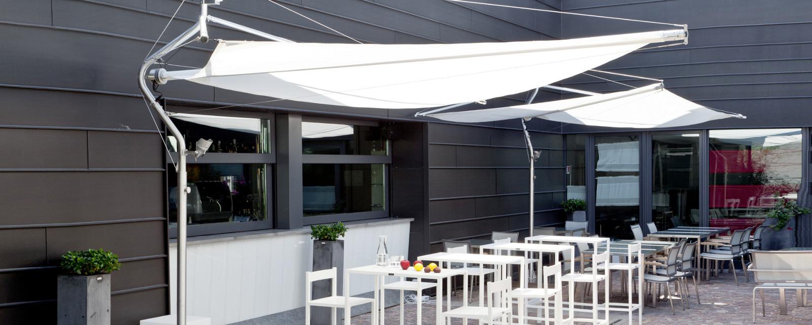 automatische segelschirme corradi defense voit aufrollbare sonnensegel raumgestaltung. Black Bedroom Furniture Sets. Home Design Ideas